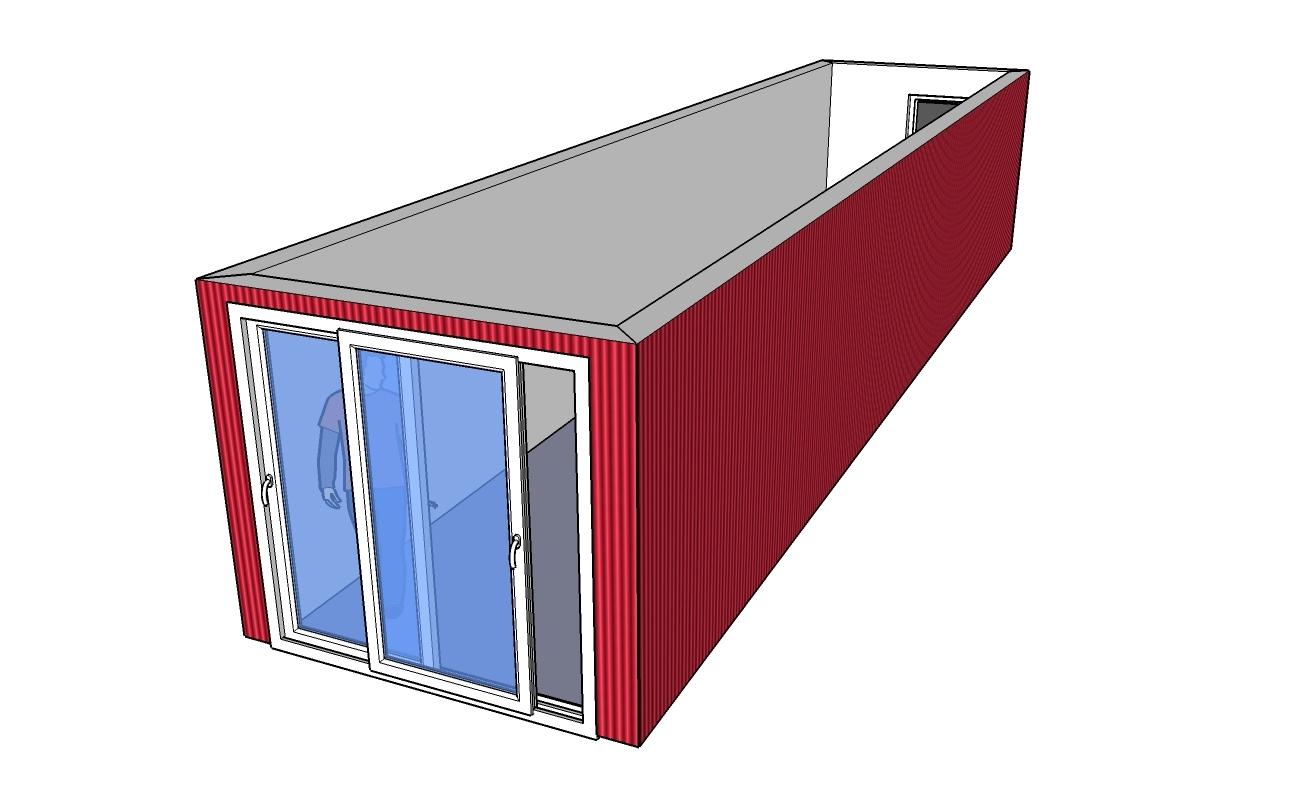 amenager un conteneur. Black Bedroom Furniture Sets. Home Design Ideas